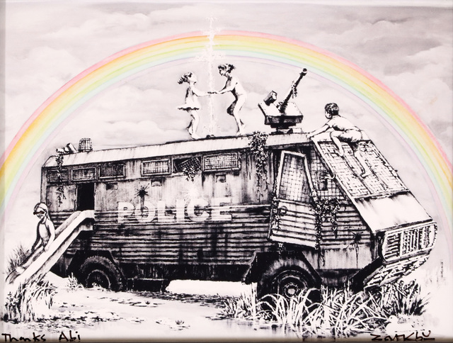 Banksy, 'Police Riot Van (Dismaland Gift Print)', 2015, Chiswick Auctions