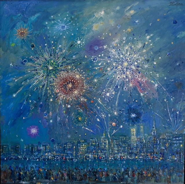 , 'July Fourth Fireworks, Seen from Brooklyn,' 2017, Galerie d'Orsay