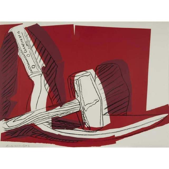 Andy Warhol, 'Hammer and sickle', 1977, Kunzt Gallery