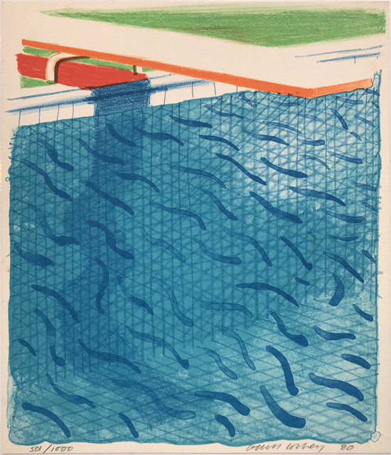 , 'Pool Made with Paper and Blue Ink for Book,' 1980, Sims Reed Gallery