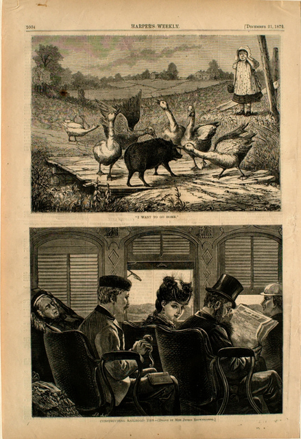 """Frederick Stuart Church, '""""I Want to Go Home"""" and Constructing Railroad Ties', 1872, Print, Wood engraving on paper, Clark Art Institute"""