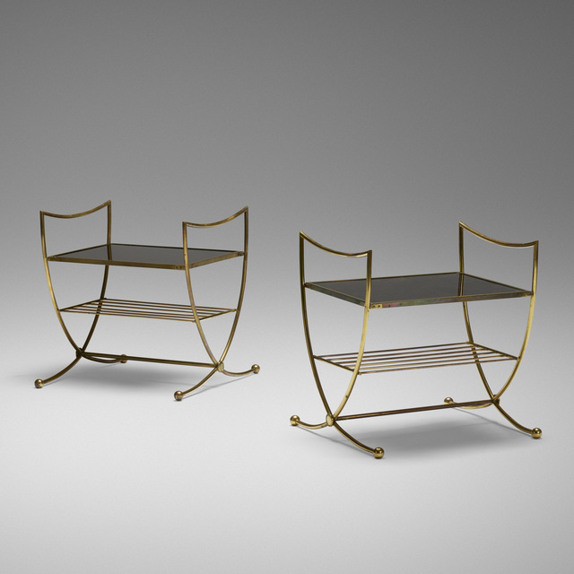 Jean Royère, 'occasional tables, pair', c. 1950, Wright
