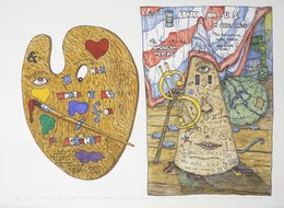 , 'On the Left... We? Attempt a New Sign for the Palate. On the Right, Gold Man Sacks the World,' 2010, Hosfelt Gallery