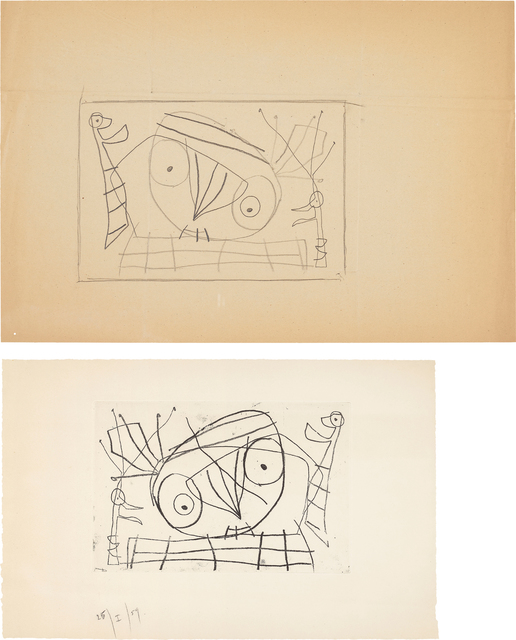 Joan Miró, '[Visage/Oiseau]: two works', 1959, Phillips