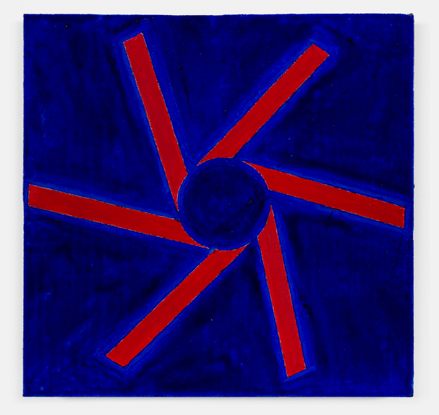 , 'no title (Cadmium red and ultramarine blue),' 2018, OV Project