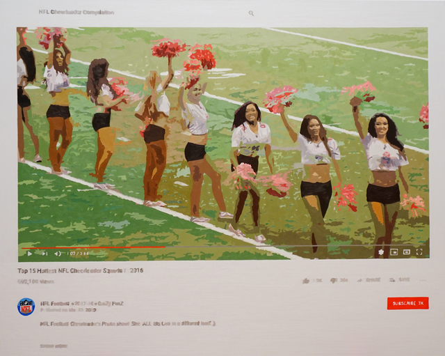 Joeggu Hossmann, 'NFL Cheerleader Compilation', 2019, Painting, Oil on canvas, Axiom Contemporary