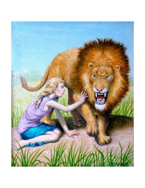 , 'GIRL AND LION,' 2014, La Luz de Jesus Gallery