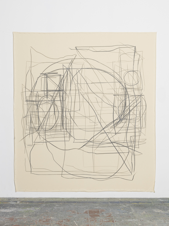 Peppi Bottrop - Wheyl, 2015, Graphite on Canvas, 250 x 210 cm (98,4 x 82,6 in)