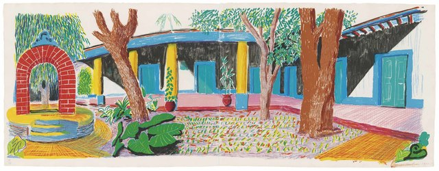 David Hockney, 'Hotel Acatlán: Second day, from: The Moving Focus Series', 1985, Christie's