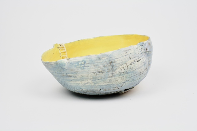 , 'Yellow Tilted Bowl w/ Porcelain Ledge,' 2017, Lacoste Gallery