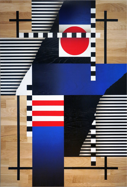 , 'Composition géométrique drapeaux et lignes 2,' 2017, KOLLY GALLERY