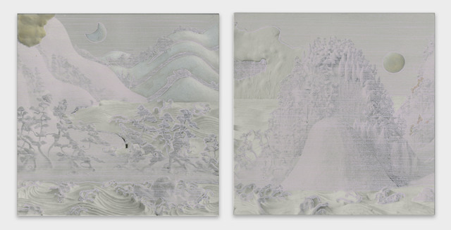 , 'Sun Moon Lake Sansui Figure Folding Screen (16-1),' 2016, Micheko Galerie