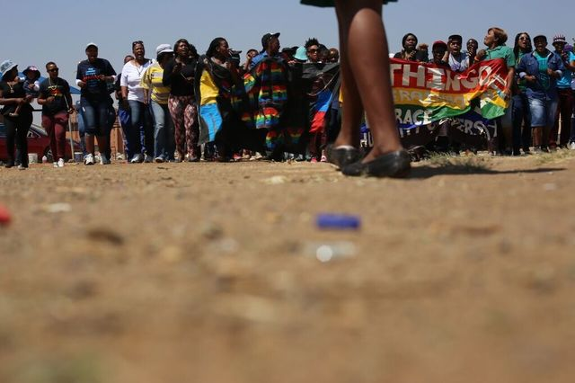 , 'Untitled (Lihle Sokhela memorial service march in Daveyton Township),' 2014, Jenkins Johnson Gallery