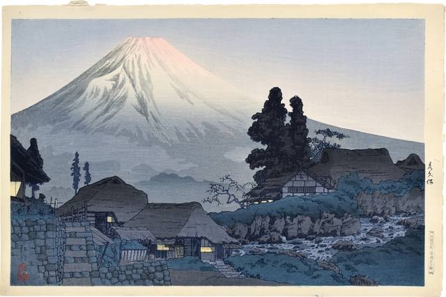 Hiroaki Takahashi (Shotei), 'Mt. Fuji from Mizukubo', ca. 1936, Print, Woodblock print, Scholten Japanese Art