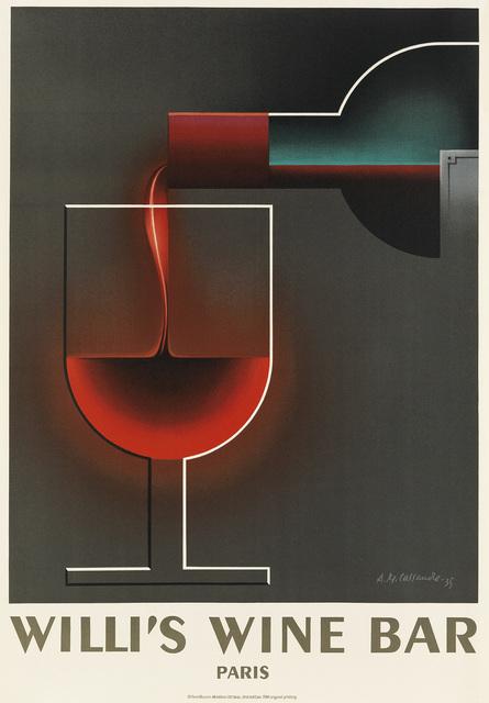 D'Après Adolphe Mouron Cassandre, 'WILLI'S WINE BAR', 1984, Swann Auction Galleries