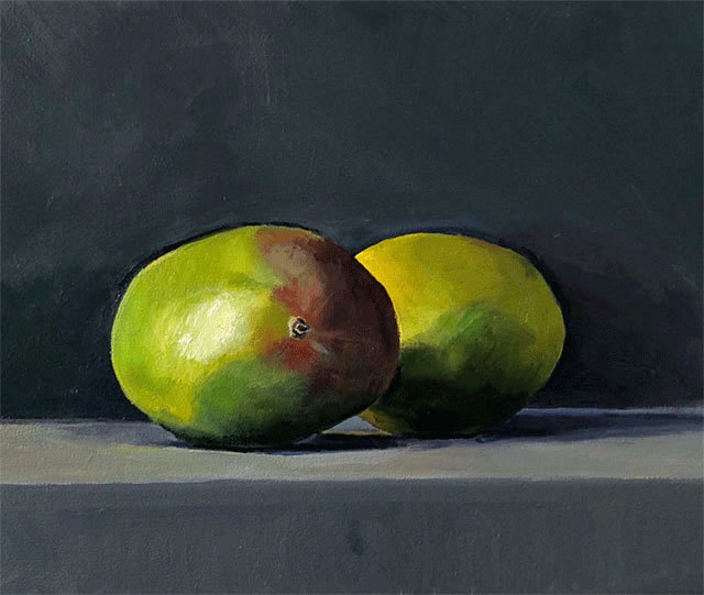Dan McCleary, 'Two Mangoes', 2020, Painting, Oil on canvas, Craig Krull Gallery