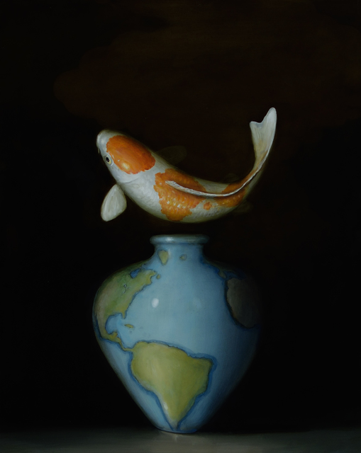, 'Koi and Map Vase,' 2017, Lisa Sette Gallery