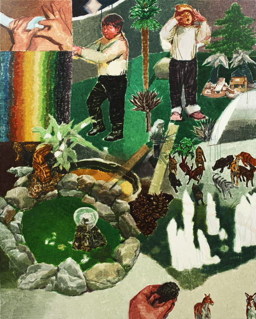 , '하나의 초원과 두 개의 정원,' 2015, Leehwaik Gallery