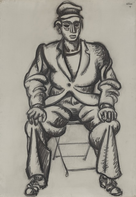 Jean Hélion, 'Homme Assis (Seated Man)', 1947, Yale University Art Gallery