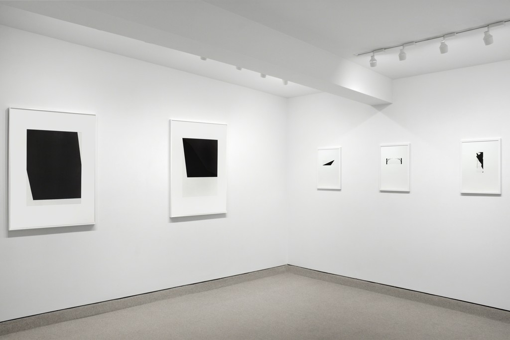 Exhibition view of Ellsworth Kelly and Robert Moskowitz