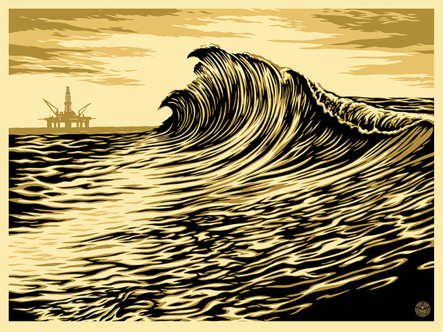 Shepard Fairey (OBEY), 'Water Is The New Black', 2015, Perry J. Cohen Foundation Benefit Auction
