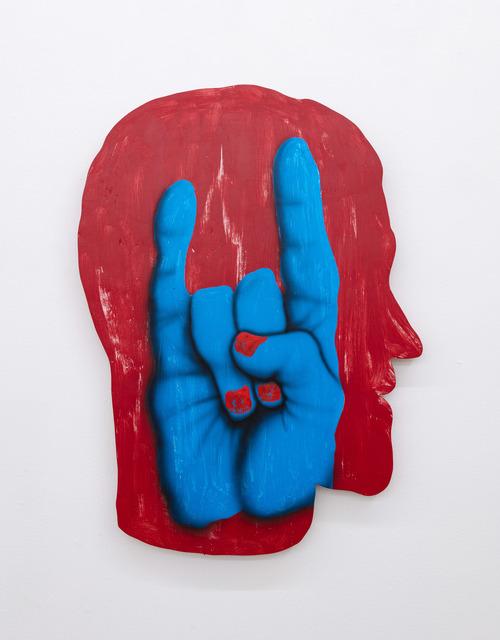 James English Leary, 'Cameo (Horns)', 2020, Painting, Acrylic on shaped panel, Nina Johnson