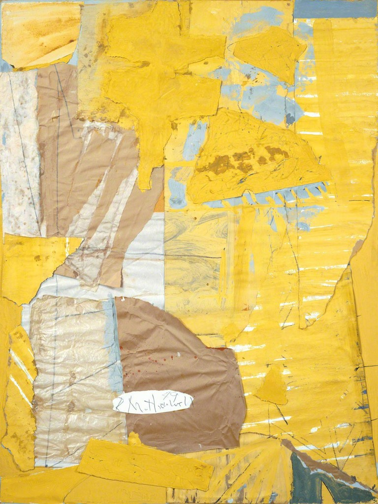 Robert Motherwell, 'Collage in Yellow and White, with Torn Elements,' 1949, Dedalus Foundation
