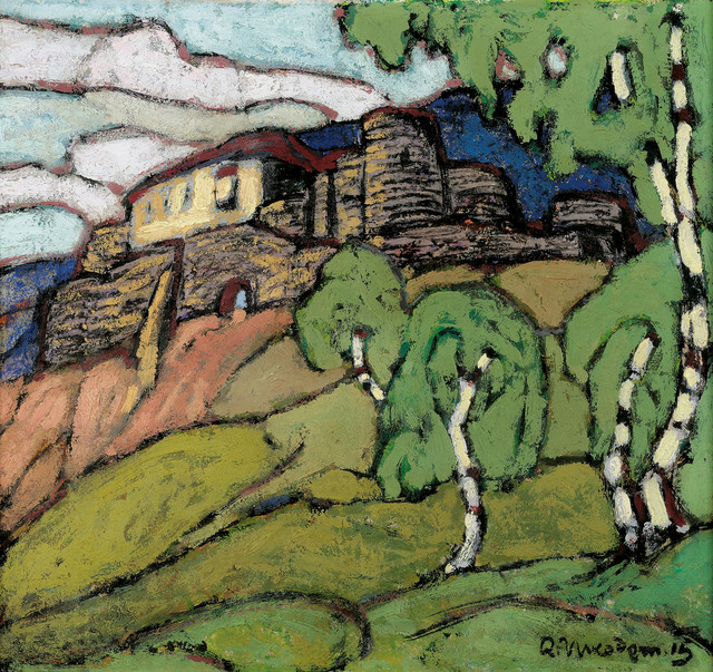, 'Sonnenburg castle with Birch Trees,' 1915, Galerie Kovacek & Zetter