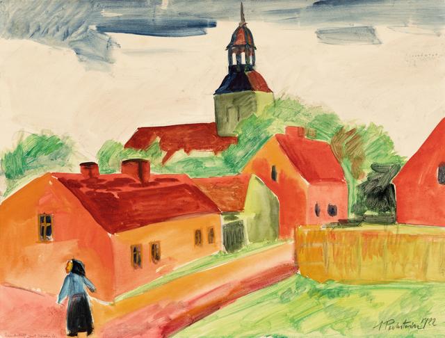 , '»Landschaft mit Kirche«,' 1922, Ludorff