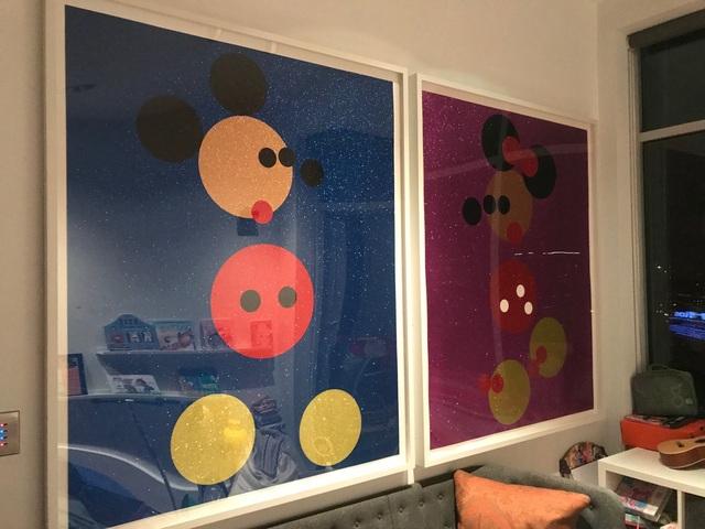 Damien Hirst, 'Mickey (Blue Glitter) Large', 2016, Fine Art Mia
