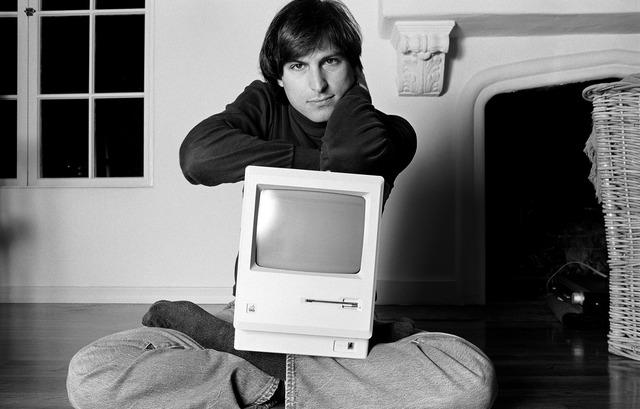 Norman Seeff, 'Steve Jobs (Mac On Lap)', 1984, Mouche Gallery