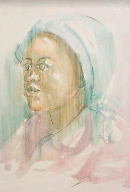 Durant Sihlali, 'Woman in blue headscarf', 1974, Gallery MOMO
