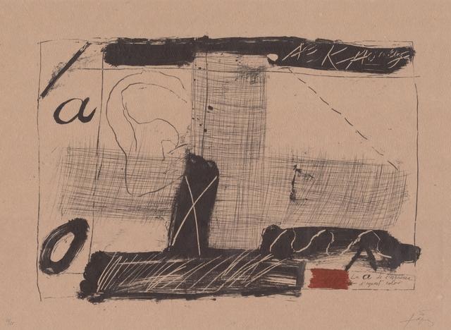 Antoni Tàpies, 'Llambrec material II', 1970-1980, ARTEDIO