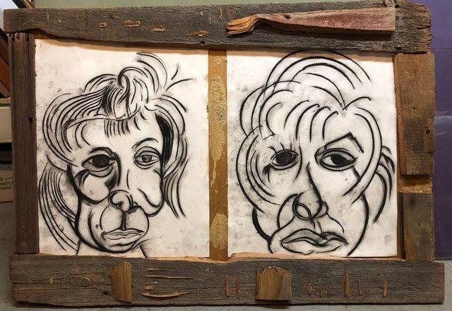 Alex Beard, 'Donna Librea, Mixed Media Wall Hanging Drawing', 1990-1999, Lions Gallery