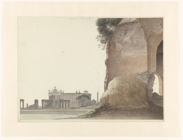 , 'The Basilica of San Giovanni in Laterano, with the Temple of Minerva Medica in the Foreground,' 1809-1812, Rijksmuseum