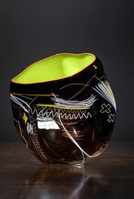 Dale Chihuly, 'Black Olive Soft Cylinder with Orange Lip Wrap', 2013, LongHouse Reserve: Benefit Auction 2019