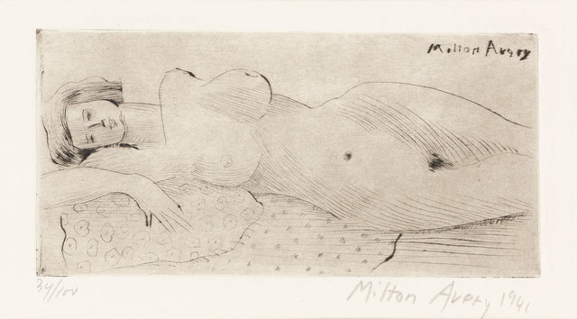 Milton Avery, 'Reclining Nude (L. 22)', 1941, Doyle