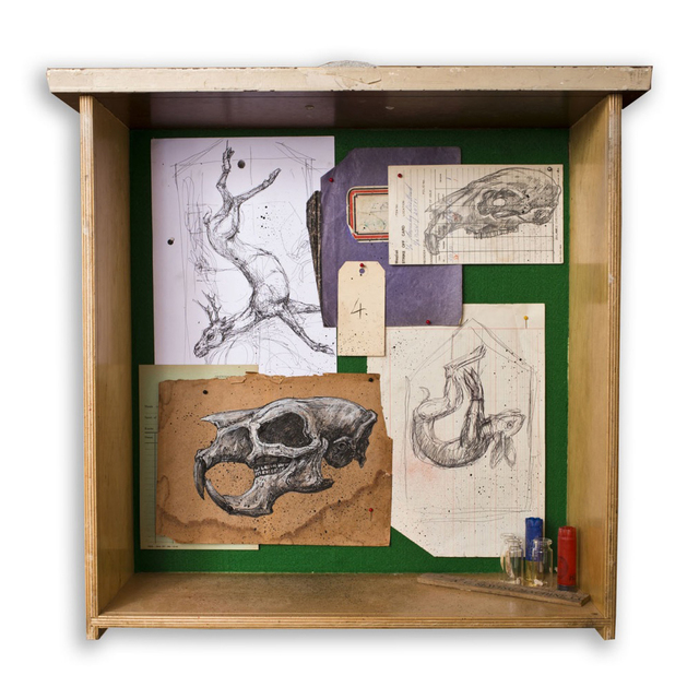 , ''Mural Study Box I',' 2011-2013, StolenSpace Gallery