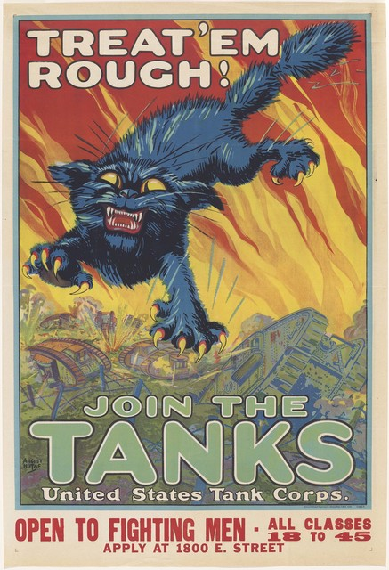 , 'Treat 'Em Rough! Join the Tanks, ,' 1918, de Young Museum