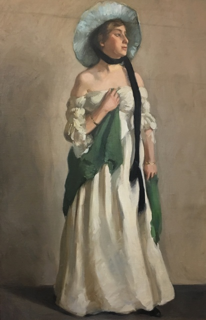 , 'The New Dress,' Early 20th c., Bakker Gallery