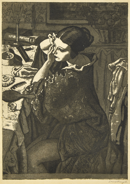Dame Laura Knight DBE RA RWS, 'Powder and Paint', 1925, Print, Etching with aquatint on wove, Roseberys
