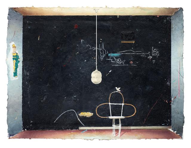 Matthias Weischer, 'Schwarze Wand (Black Wall)', 2013, GRIMM