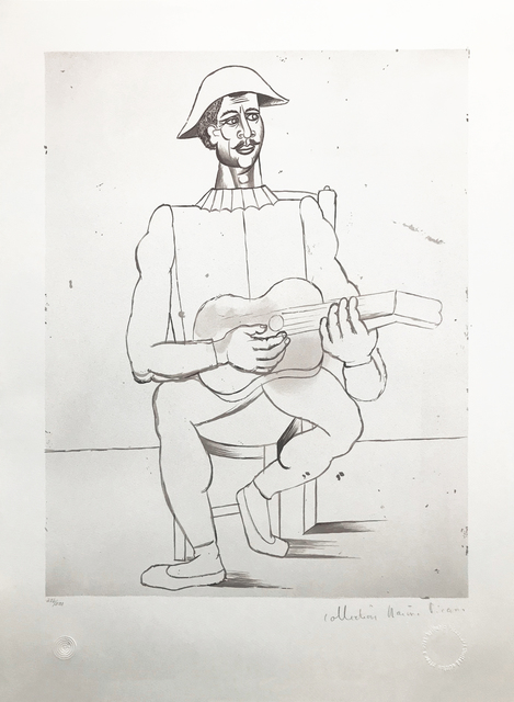 Pablo Picasso, 'ARLEQUIN MOUSTACHU A LA GUITARE', 1979-1982, Reproduction, LITHOGRAPH ON ARCHES PAPER, Gallery Art