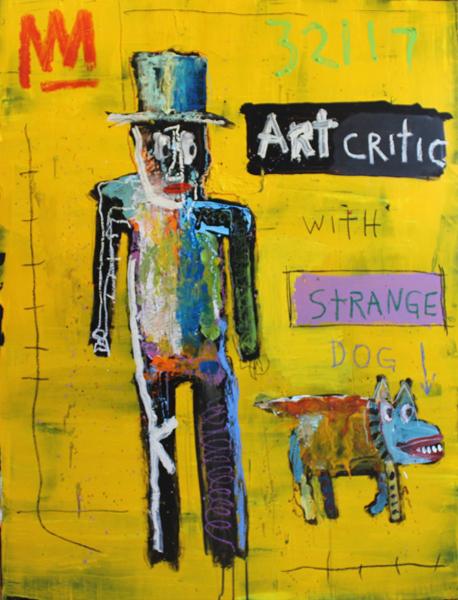 Michael Snodgrass, 'Art Critic with Strange Dog', 2017, Rice Polak Gallery