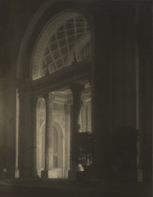 , 'Machinery Hall, West Entrance, at Night,' 1915, de Young Museum