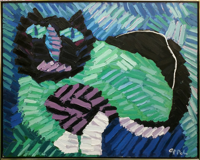Karel Appel, 'THE GREEN CAT', 1978, Painting, OIL ON CANVAS, Gallery Art