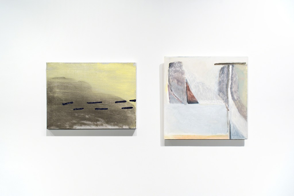 Paintings by Ian White Williams and Ellen Siebers.