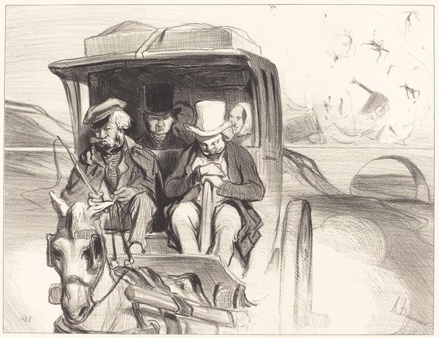 Honoré Daumier, 'Allons donc... que diable cocher...', 1843, National Gallery of Art, Washington, D.C.