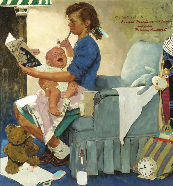 , 'The Babysitter,' ca. 1947, M.S. Rau Antiques