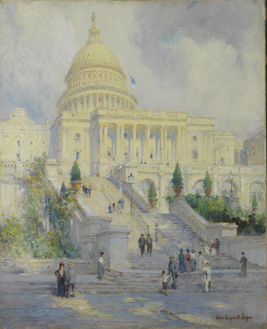 , 'West Front of the Capitol Steps, Washington D.C.,' 1902, Montclair Art Museum